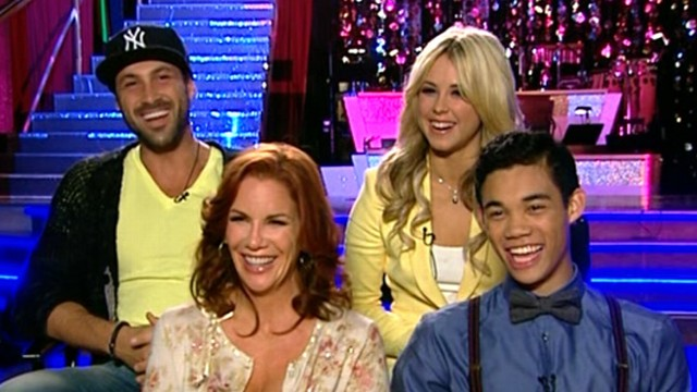 "VIDEO: Melissa Gilbert, Roshon Fegan join partners in chat about experience on ""DWTS."""