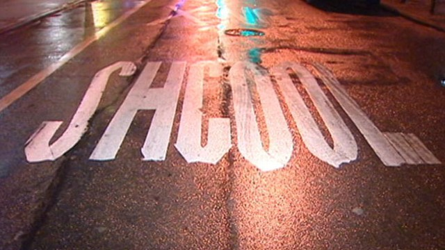 VIDEO: These spelling errors are painted outside Manhattans Marta Valle High School.