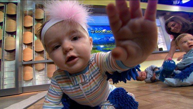 VIDEO: Mop is a onesie with mop heads on the arms, legs that allow kids to clean while crawling around.