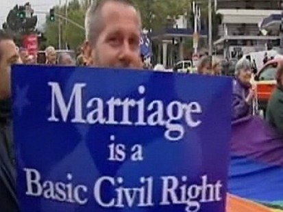 California proposition on gay marriage