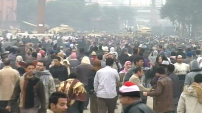 VIDEO: Anti-Mubarak protestors refuse to negotiate until Egypt's president steps down.