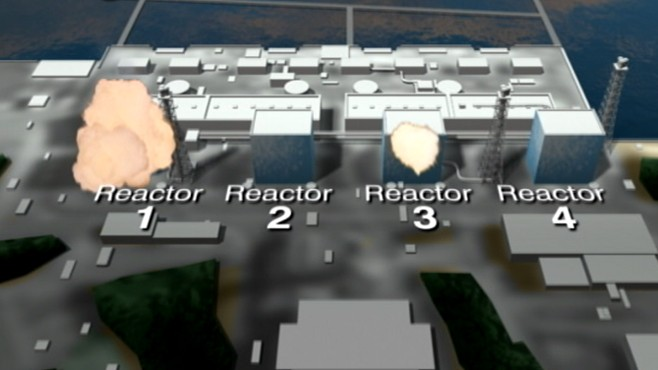 Reactors that were harmed in the disaster