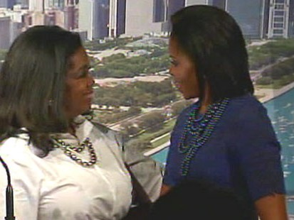 VIDEO: Michelle Obama and Oprah pitch Chicago to host the 2016 Olympic games.