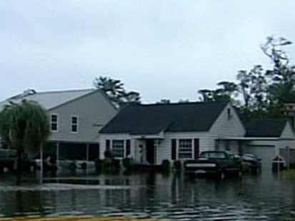 Flooded homes in Orange