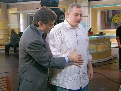 VIDEO: Dr. Oz helping a GMA crew member breathe correctly.