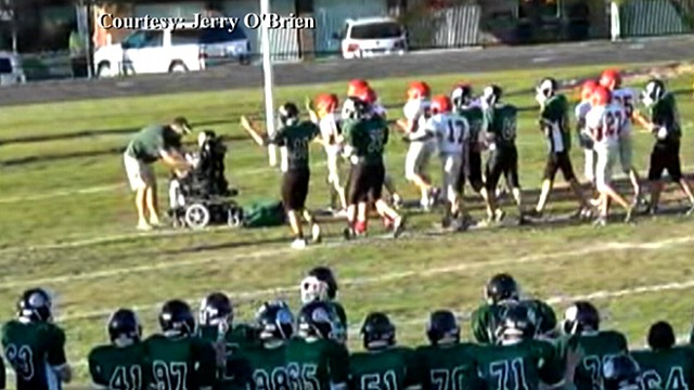 Student with Cerebral Palsy Scores Touchdown
