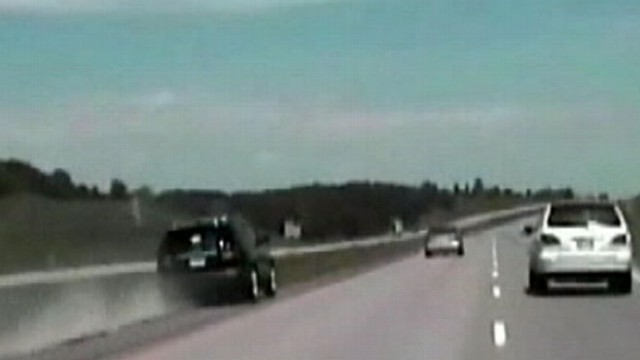 VIDEO: Stunning video shows the moments of a driver zooming through a crowded interstate.