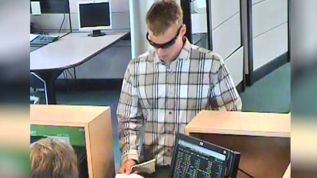 "VIDEO: FBI dubbed robber the ""I-55 Bandit,"" hit up 10 banks in last three months."