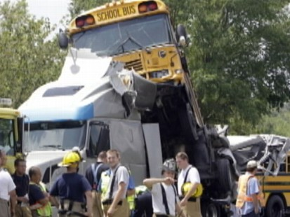 VIDEO: School Bus Crash