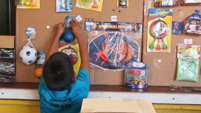 VIDEO: Boys Dream comes true when people visit his DIY arcade.