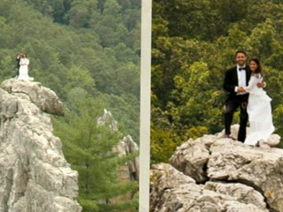 Watch: Couple Gets Married Atop a 900-Foot Cliff