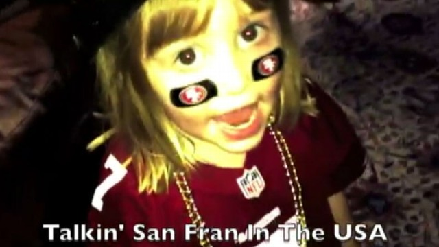 VIDEO: Sarah Redden, 6, and her brother wrote and recorded a rap song about their football team.