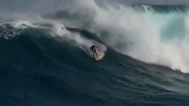 VIDEO: Patterson is believed to be the first person to attempt the new extreme sport.