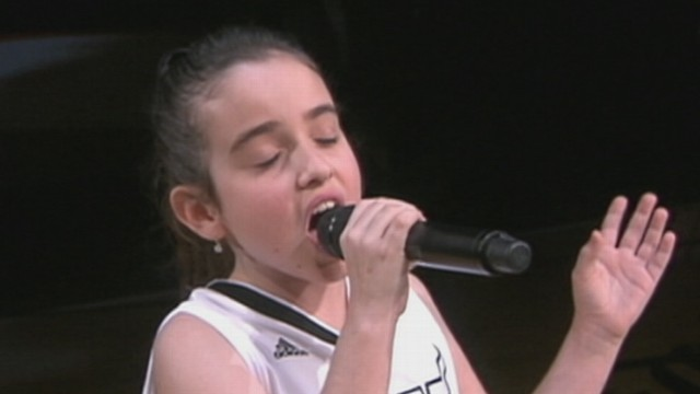 VIDEO: Julia Dale wowed crowds at the NBA finals with her powerful rendition of the national anthem.