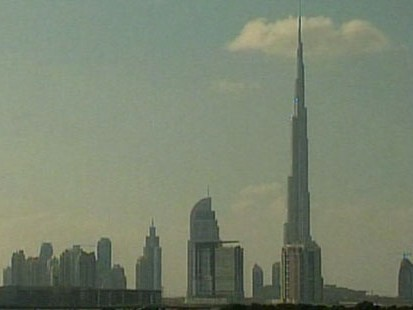 VIDEO: The Burj Dubai in the UAE is almost half a mile tall.