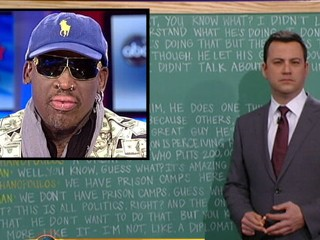 Watch: Jimmy Kimmel Translates Dennis Rodman's 'This Week' Interview