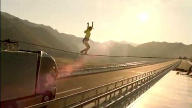 "VIDEO: An impressive Volvo ad complete with stunts makes up ""GMAs"" Play of the Day."