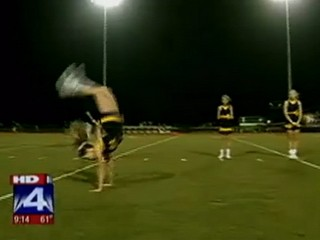 Watch: High School Cheerleader Sets Handspring World Record