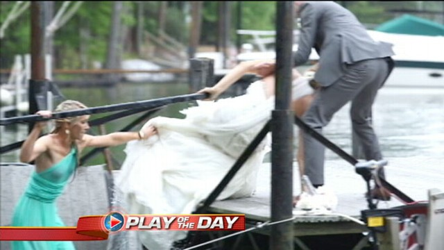 Video: Entire 29-Person Wedding Party Falls in Lake