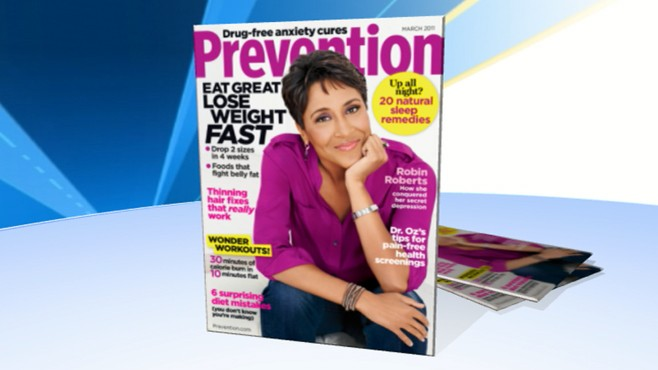 "VIDEO: ""GMAs"" own Robin Roberts chats about her cover story on cancer in ""Prevention."""