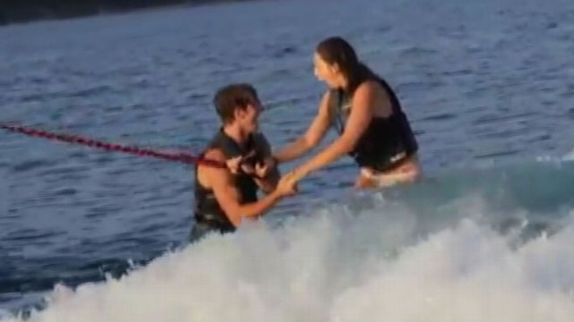 VIDEO: Man Proposes While Tandem Wakesurfing with Girlfriend