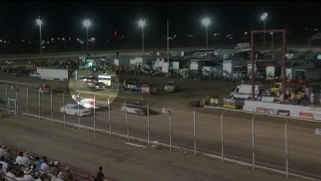 VIDEO: Three people were injured when the car plowed through a guardrail at the Missouri State Fair.