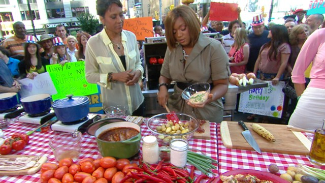 VIDEO: Food Network star prepares her easy baked beans and creamy potato salad.