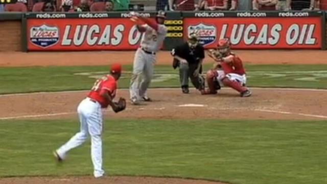 VIDEO: Cincinnati Reds Fans Hit Pizza Home Run
