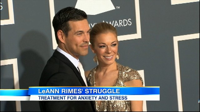 "VIDEO:  The country star is seeking help for ""anxiety and stress."""