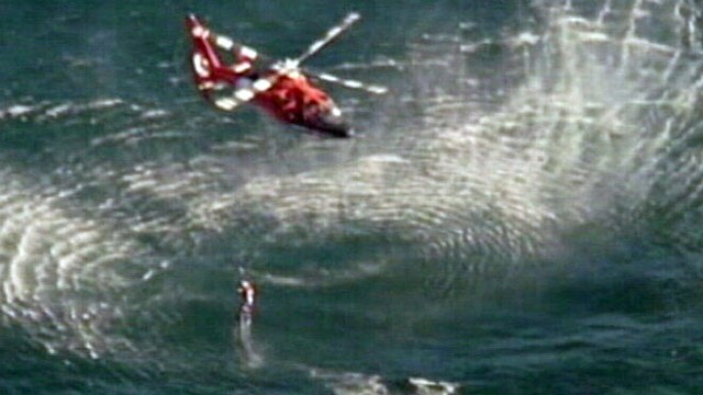 VIDEO: Coast Guard Rescues Two from Sea
