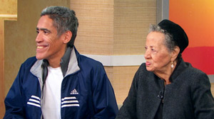 PHOTO Ted Williams and his mother are shown on Good Morning America.