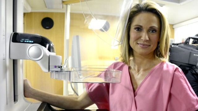 "VIDEO: How a mammogram on ""GMA"" changed her life."