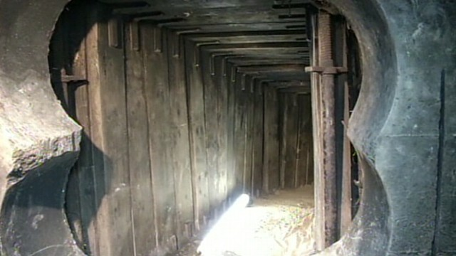 VIDEO: Berlin police say the tunnel went from an underground garage to the banks safe deposit room.