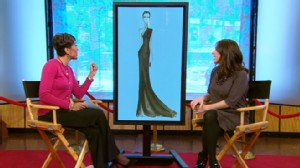 VIDEO: Five fashion students design dresses for Robin to wear to the Oscars.