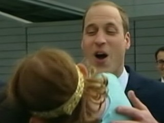 Watch: Little Girl Rejects Kiss from Prince William, Kate Starts Knitting