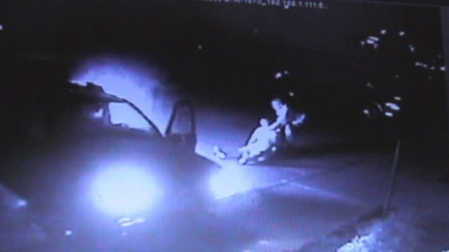 VIDEO: Two good Samaritans driving by stopped and pulled the man to safety.