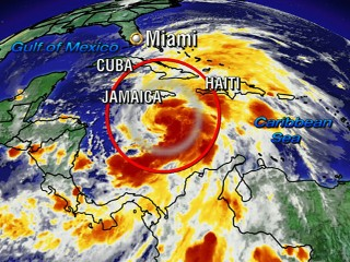 Watch: Tropical Storm Sandy Reaching Hurricane Strength
