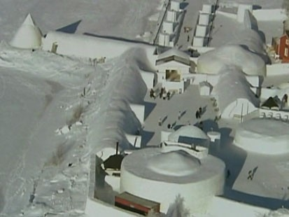 VIDEO: Diane Sawyer explores Finlands enormous snow castle.