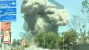 VIDEO: Bombs and gunfire strike northwest Pakistan, police say.
