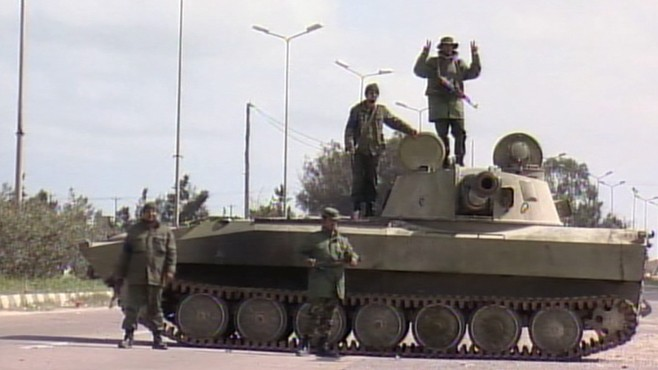VIDEO: Moammar Gadhafi ups violence and deadly threats against opposition forces.