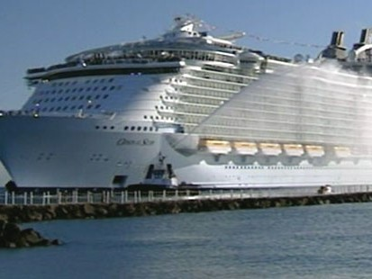 VIDEO: Royal Caribbeans Oasis of the Seas arrives in Port Everglades, Fla.