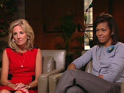 Jill Biden and Michelle Obama