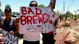 VIDEO: Opponents across America call for a boycott of Arizona goods and tourism.