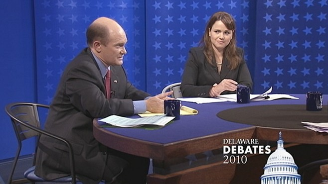 VIDEO: Christine O'Donnell Clashes With Chris Coons