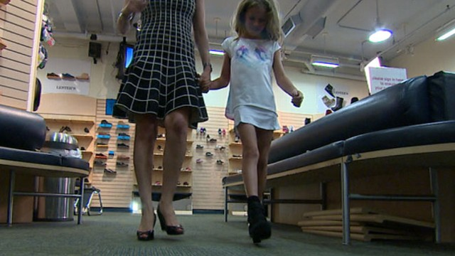 Too Young, Too Soon: Some Say Girls Too Young for Wedge ...: http://abcnews.go.com/GMA/video/young-girls-young-wedge-sandals-19870784