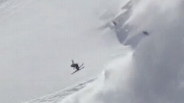 VIDEO: Skier Sparks Mini-Avalanche