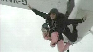 VIDEO: Skydiver Cheats Death