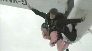 VIDEO: Skydiver Cheats Death