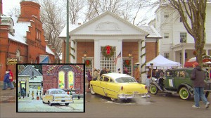 VIDEO: Town Recreates Famous Rockwell Holiday Painting