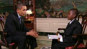 VIDEO: Damon Weaver interview President Obama.